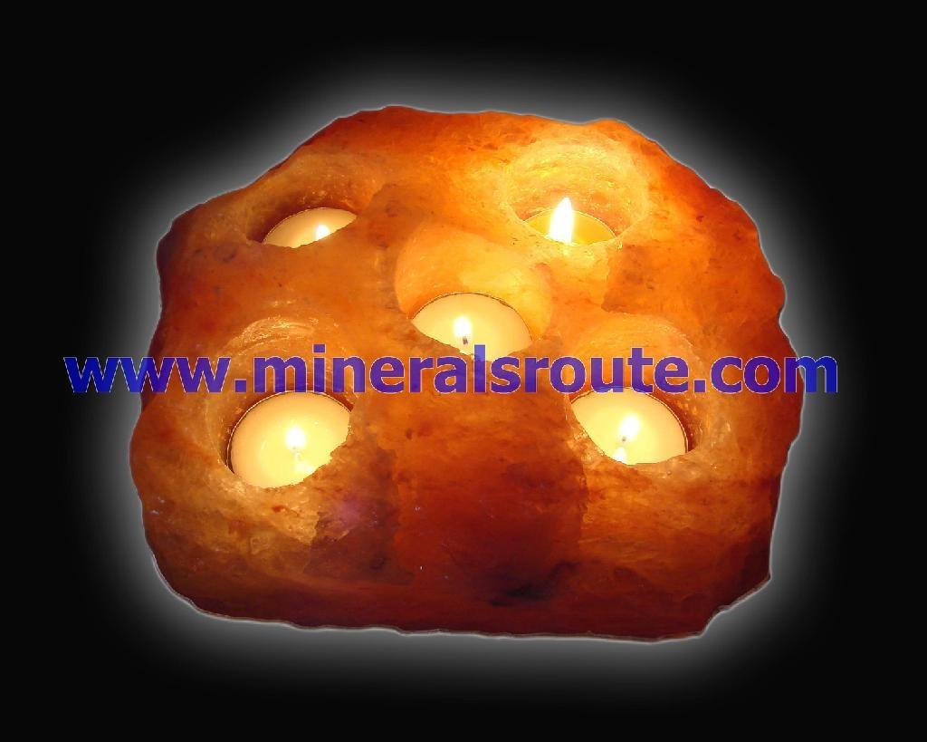 Himalayan salt wax candle holders 1