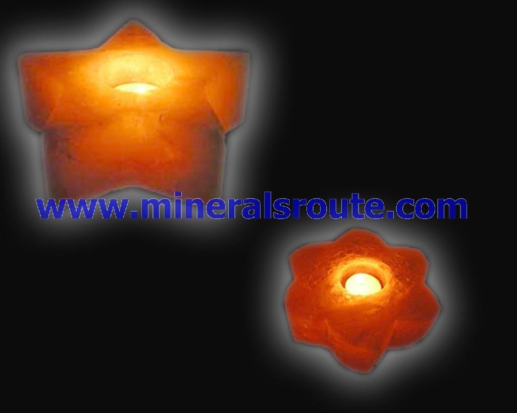 Himalayan salt wax candle holders 2