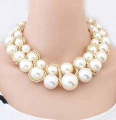 2014 fashion party chunky pearl necklace jewelry for women