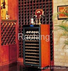 single zone W230A 60-80 bottles custom wine storage cabinet OEM custom oak wine