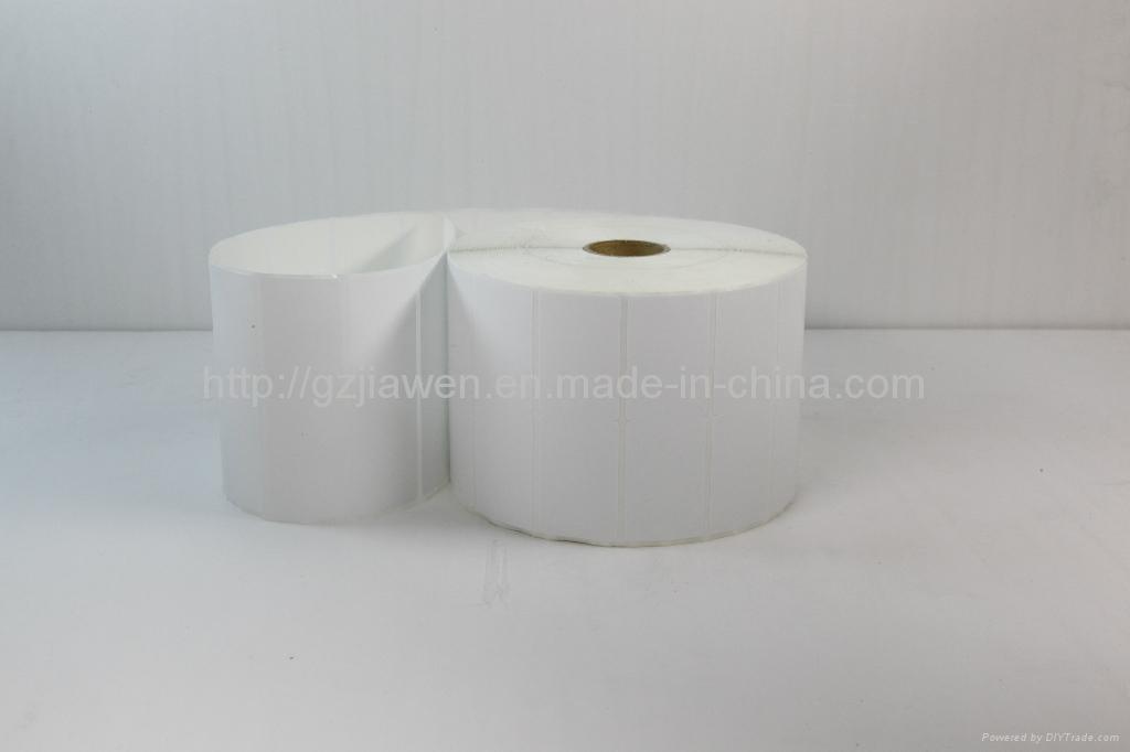 Permanent Adhesive Non Flourcscert Glossy Paper Label 4
