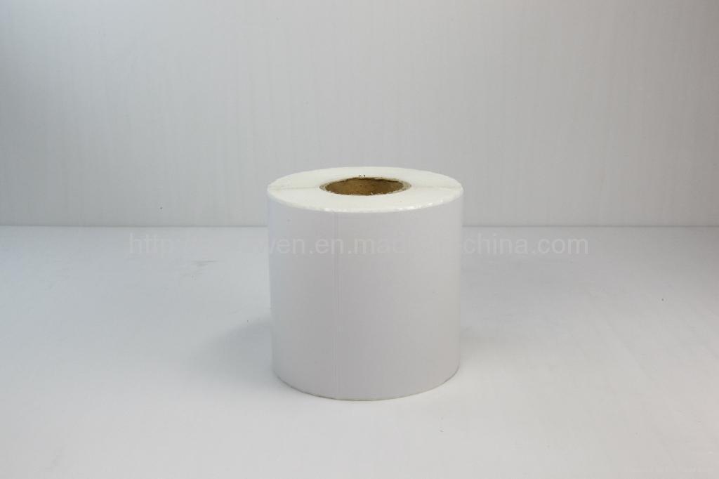 Permanent Adhesive Non Flourcscert Glossy Paper Label 5