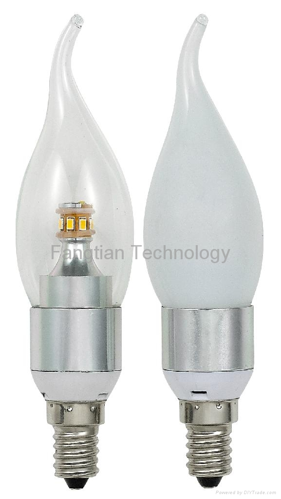 4W Watts 360 degree LED Tail Candle bulb dimmable CE RoSH UL SAA 1