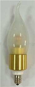 4W Watts 360 degree LED Tail Candle bulb dimmable CE RoSH UL SAA 2