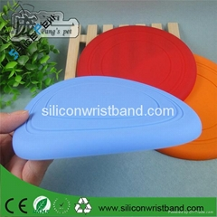 23CM custom silicone rubber flying frisbee