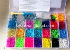 Original blue box Monster tail Loom Kits Rubber Bands Bracelet DIY