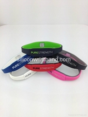 Pure Life strength energy Power wristband with 4000 negative ions