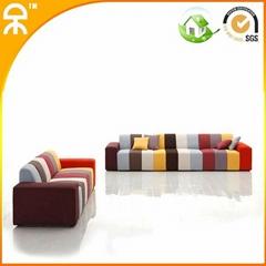 (A+C+A+B+C seat)velvet living room sofa design furniture #CES001