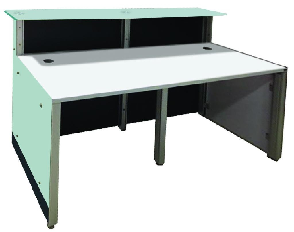 9meter small office glass reception counter table for 2 persons ...