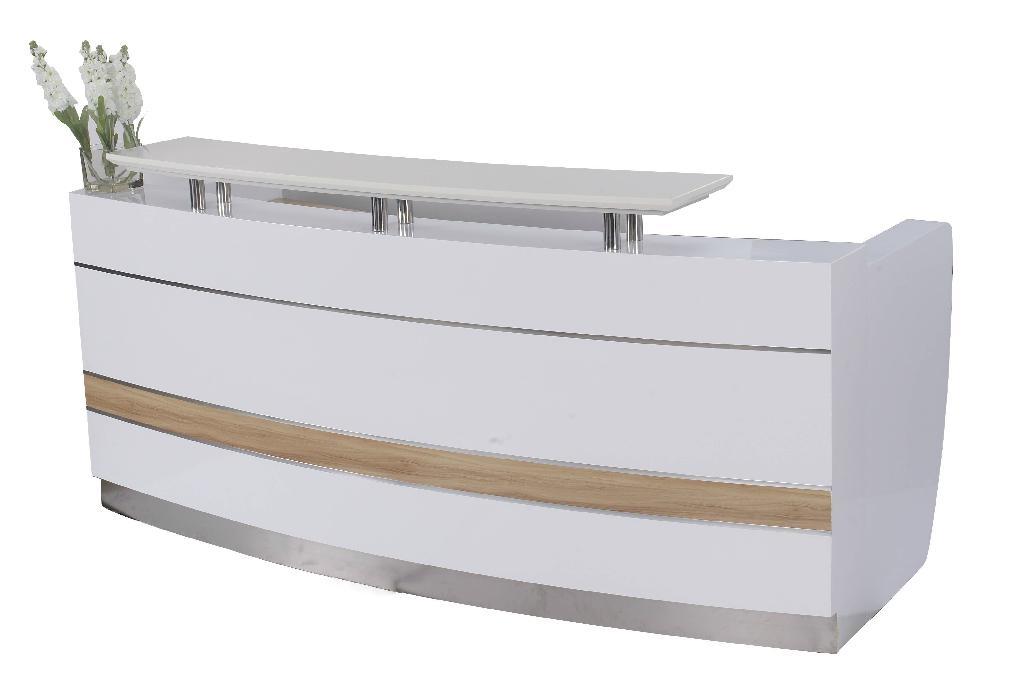 2 2m modern office wood reception desk design furniture for Modern office desk for sale