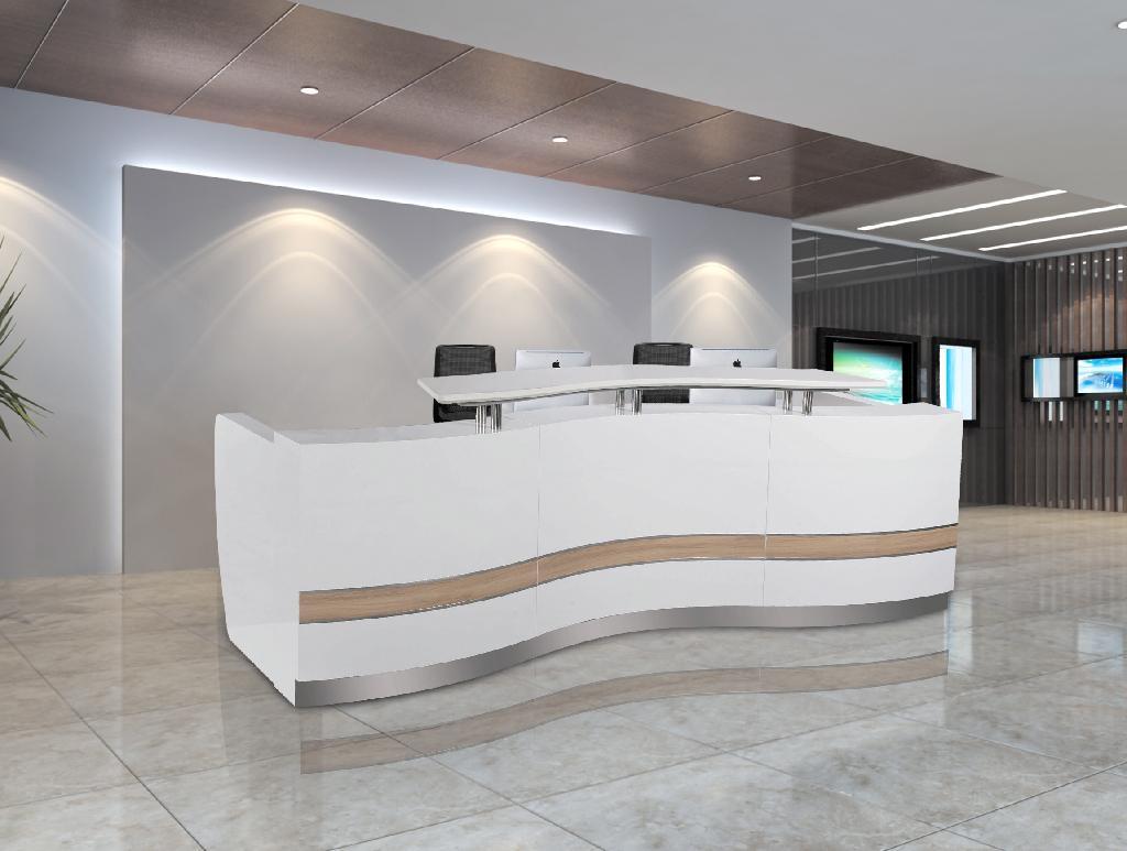 3 3m 10 8ft Wholesale Salon Wood Office Reception Front