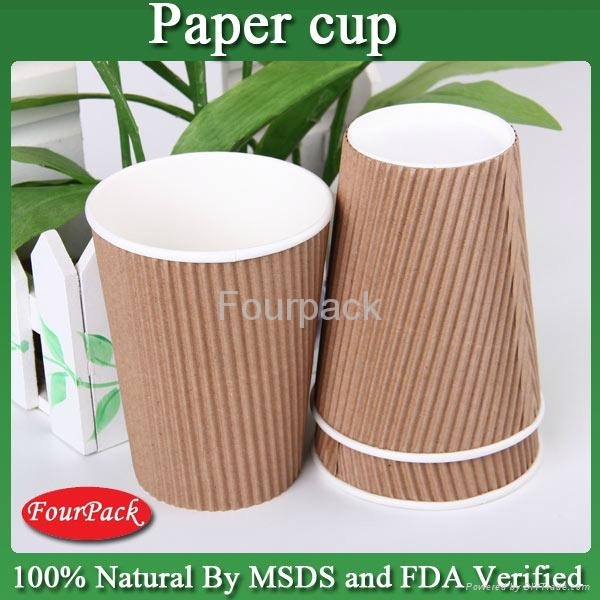 Company logo printed ripple wall heat proof advertising corrugated paper cup 3