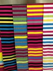 100%cotton auto stripe jersey/pique
