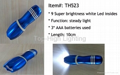 Fluorescent 9led Torch