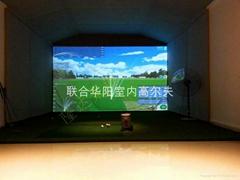 豪華款室內高爾夫模擬器