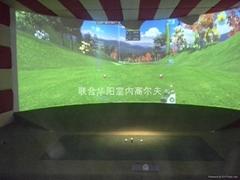 4S店安裝室內高爾夫