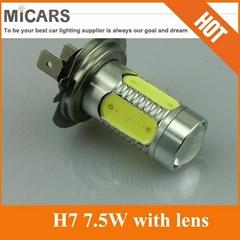 Super Bright High Power H7 7.5W Lens LED Fog Light