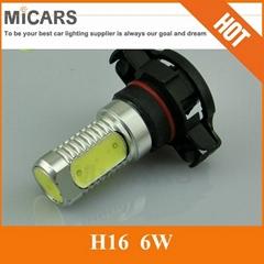 6W Lens H16 High Power LED Auto Car Light