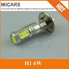 H1 6W Lens High Power LED Auto Car Light