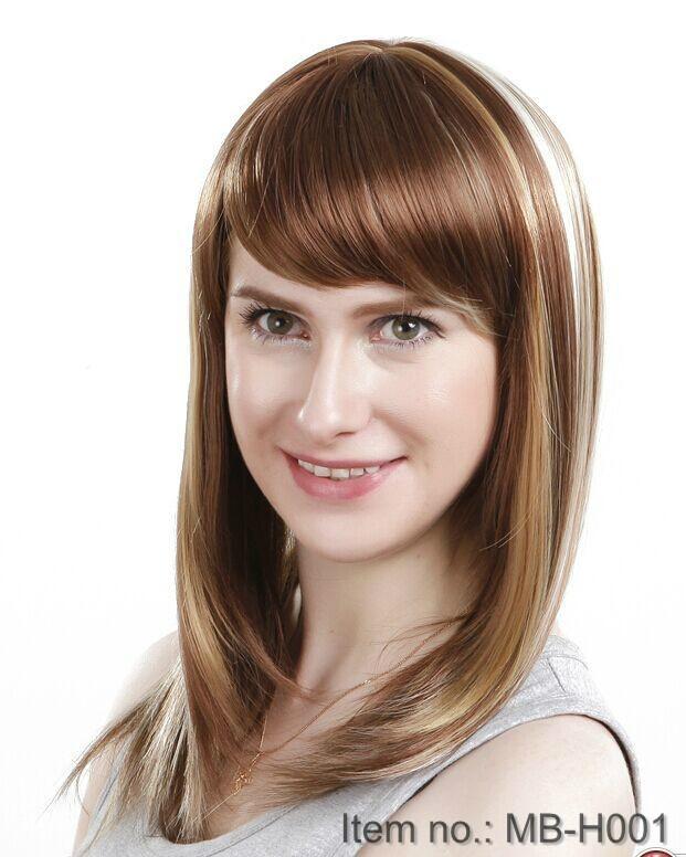 2014 new fashion women's long straight wig 5