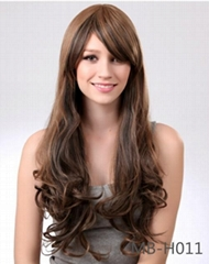 2014 fashion synthetic silky straight nature wave wig for women
