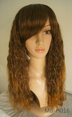 Synthetic wig with water wave 2014 hot seller for women