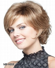 2014 fashion short wave synthetic wig for women