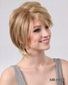 Short synthetic wig with nature wave