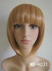 Synthetic wig with short hair best seller in summer 2014
