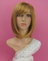 Yellow synthetic fashion BOBO wig for
