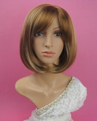 Yellow short synthetic BOBO wig for women hot seller