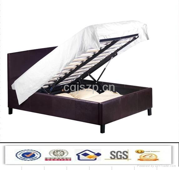 leather storage bed lift up bed 1