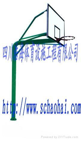 地埋式圆管单臂篮球架 1