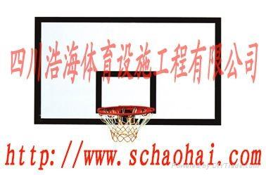 地埋式圆管单臂篮球架 2