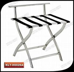 Folding hotel luggage rack