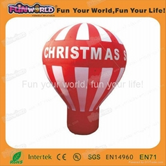 Inflatable ground advertising balloon