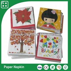 custom cocktail paper napkins serviettes