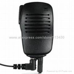 Two way radio handheld shoulder speaker mic.