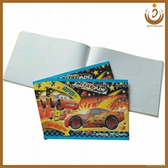 Cartoon paper cover staple drawing books