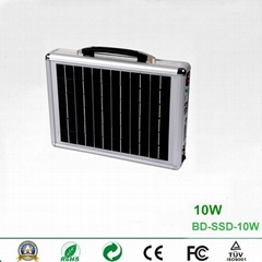 10W Portable Solar Power System with Card Reader Speaker and Radio