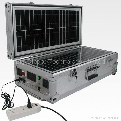 40W Portable Solar Power System with Dual Output for Travelling and Home Use 1