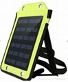 Backpack style 5W solar panel charger with strips and usb port 1