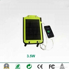 Backpack style 3.5W solar charger with strips and USB port