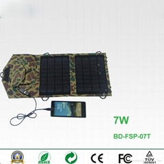 7W portable foldable solar charger for smartphones