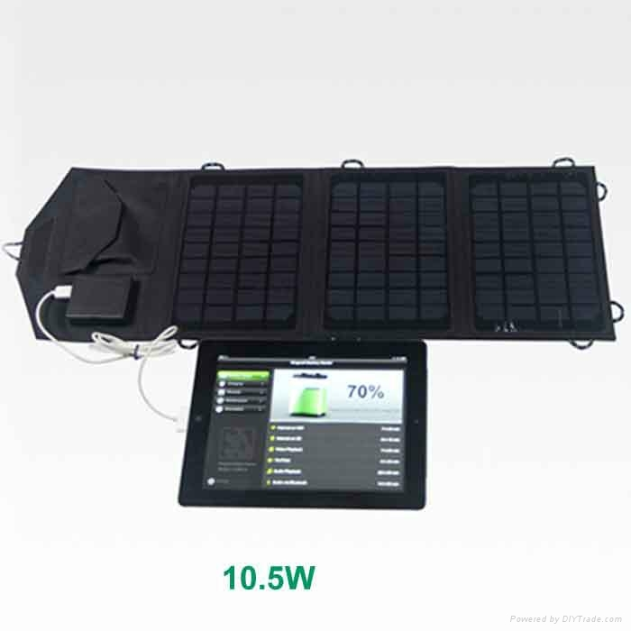 10.5W portable foldable solar charger for smartphones and smart devices 1
