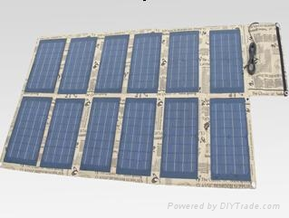 120W foldable solar charger for laptops and mobile phones 1