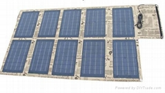 100W foldable solar charger panel for laptops and mobile phones