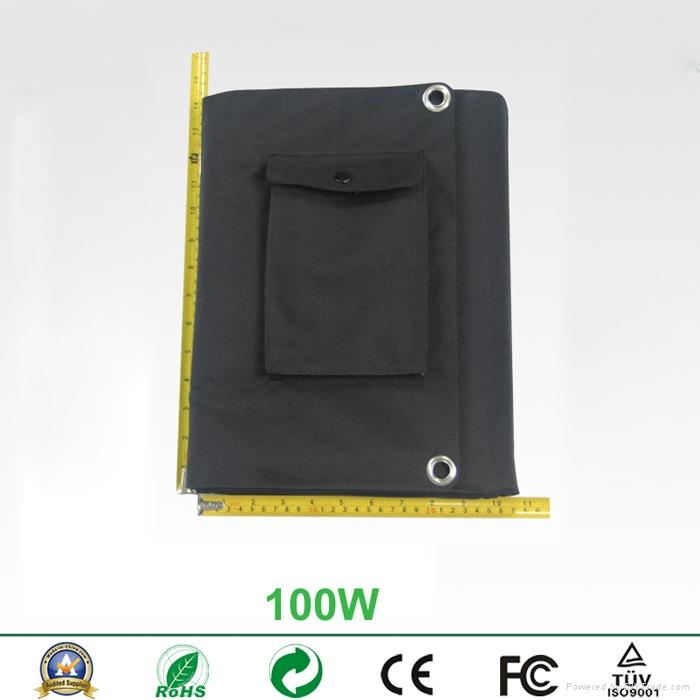 100W foldable solar charger panel for laptops and mobile phones 2