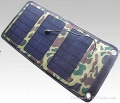 5W foldable solar charger panel for mobile phones and smart devices