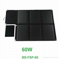 60W waterproof foldable solar panel charger for laptop and mobile phones 1